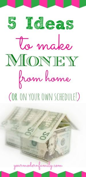 Video on 5 easy ways to make money either from your home or on your own schedule! :)
