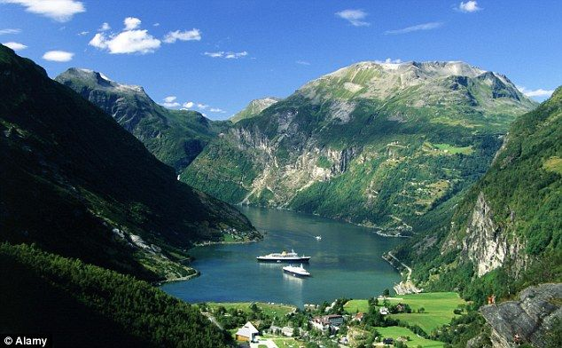 Norway, pictured, has been crowned the world's most prosperous country, according to the Legatum Prosperity Index