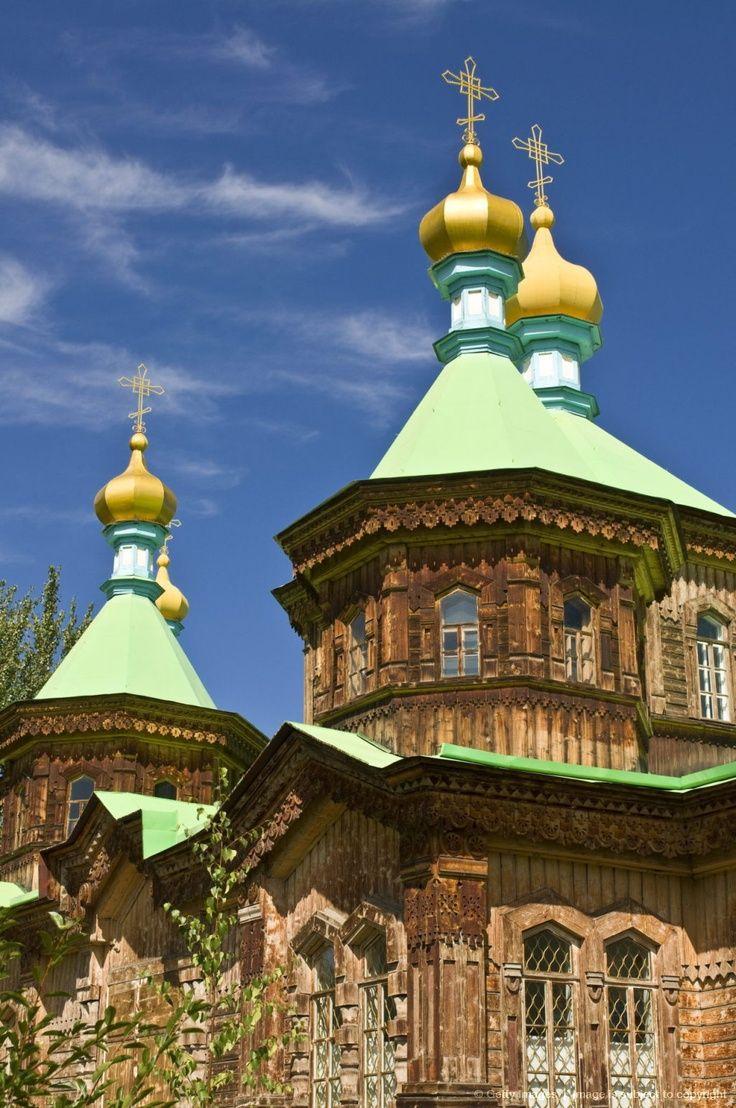 Russian Orthodox church in Karakol, Kyrgyzstan, Central Asia