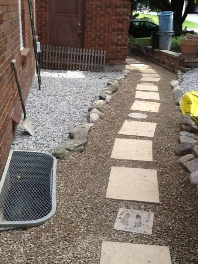 9 best images about landscaping on pinterest trees and for Inexpensive walkway ideas