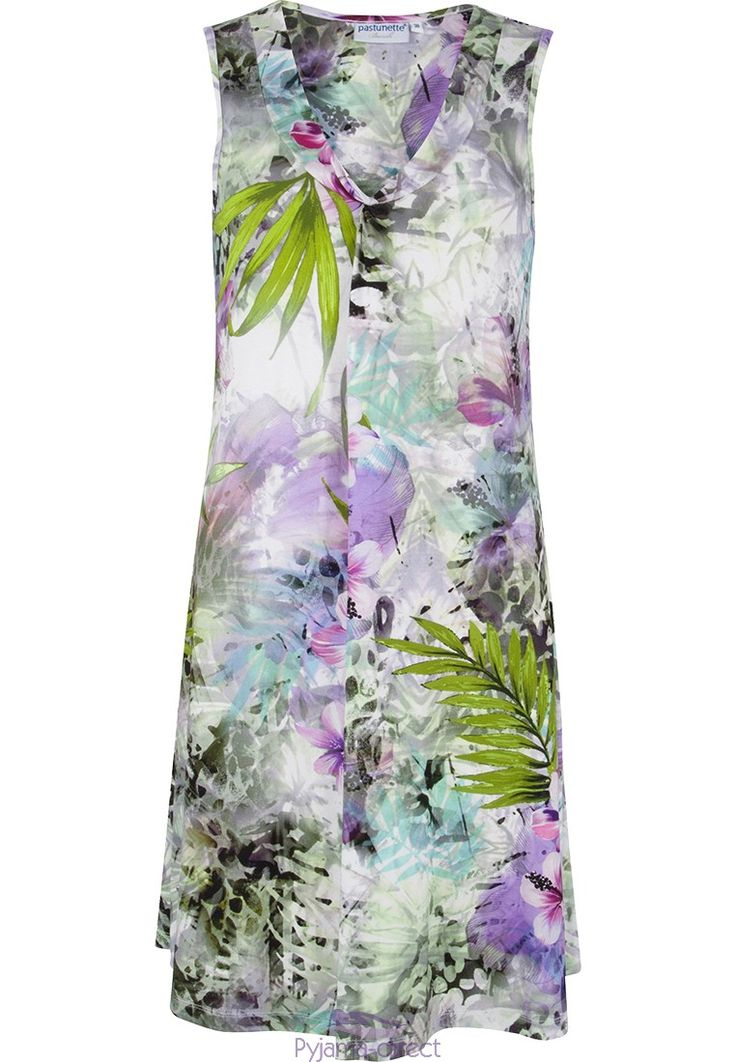 "Pretty ""Tropical Paradise"" sleeveless Pastunette Beach floral dress"