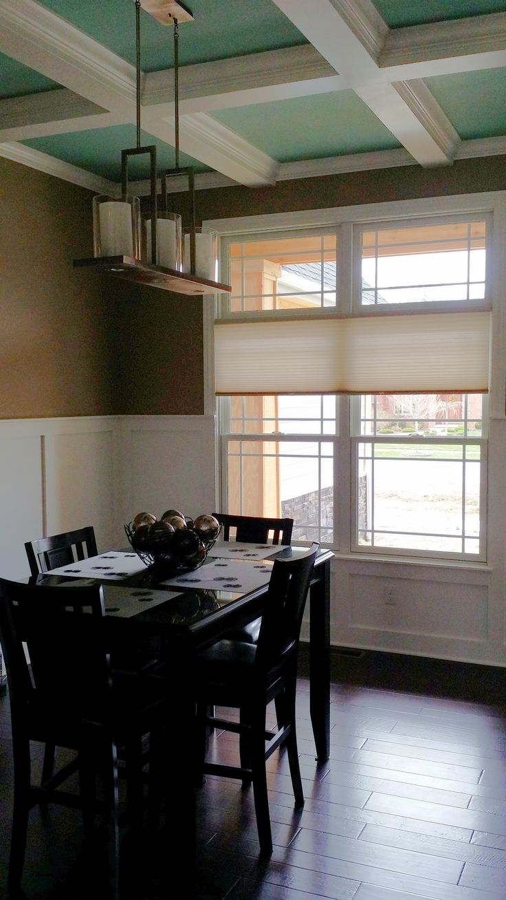 The Cellular Shade Theme Was Continued From Kitchen Area To Dining Room ShadesGlass DoorsDining Rooms