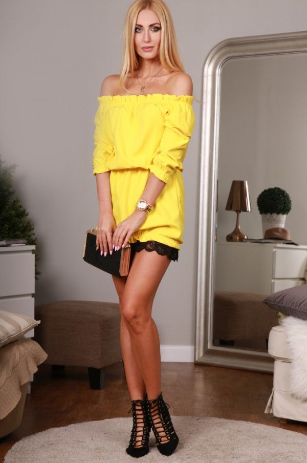 Sukienka żółta 98660