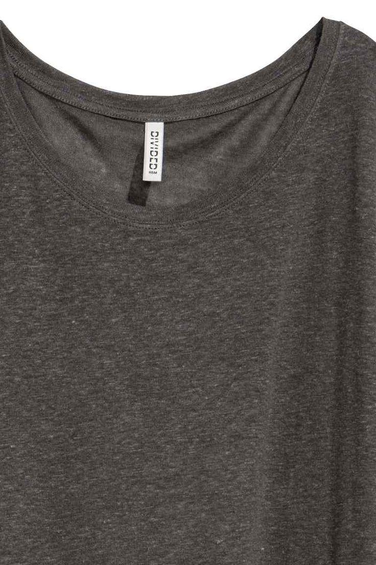 Vestido camiseta - Gris oscuro - MUJER   H&M ES