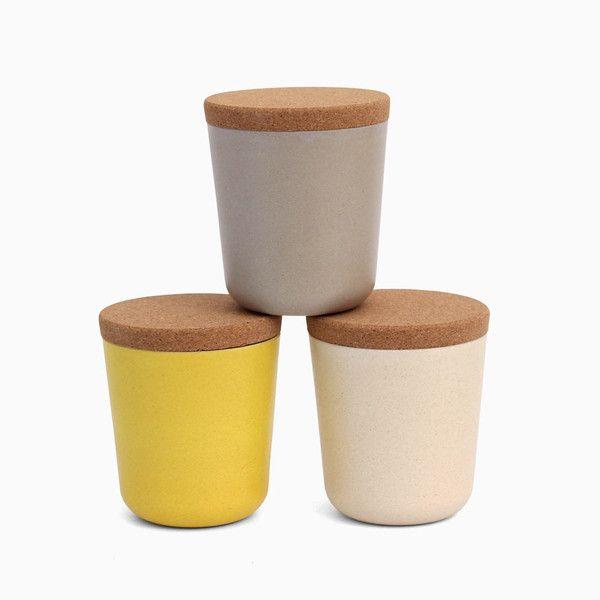 BIOBU Gusto Large Storage Set with Cork Lid                         – bitte