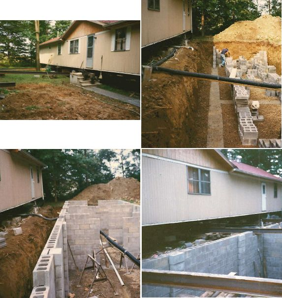 basement construction for manufactured home