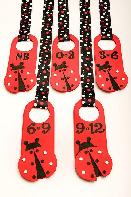 Ladybug Nursery Closet Clothing Dividers by CupcakeDream!, via Flickr