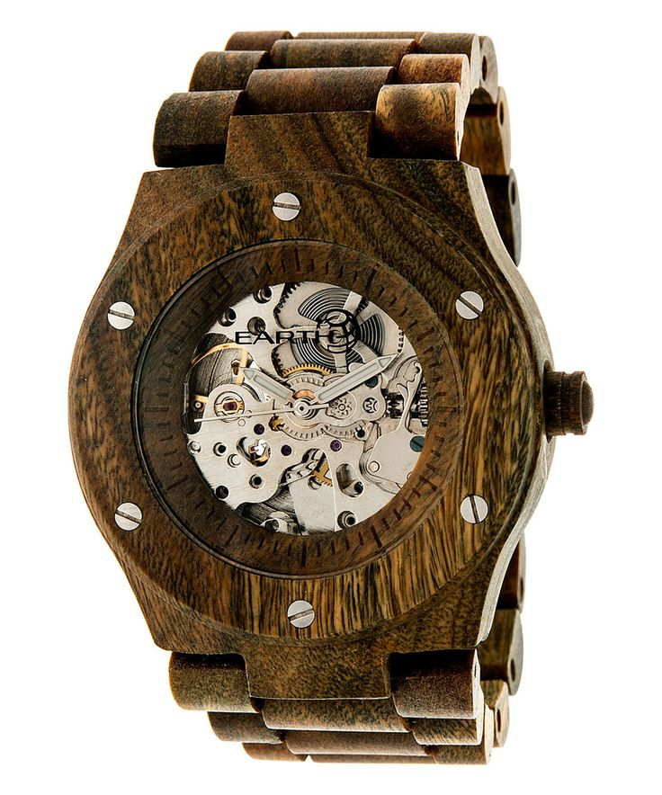 Love this Olive Grand Mesa Automatic Bracelet Watch by EARTH wood watches on #zulily! #zulilyfinds