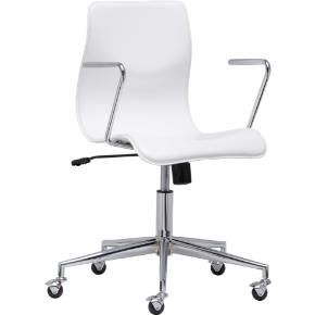 bubble white leather office chair in view all sale | CB2, possibly for the office after our move