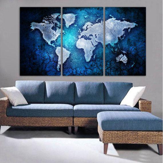 3 Panel Split Art World Map Canvas Print Triptych For: 17 Best Ideas About Cheap Canvas Prints On Pinterest