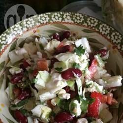 Foto recept: Salade van kidneybonen met feta en paprika