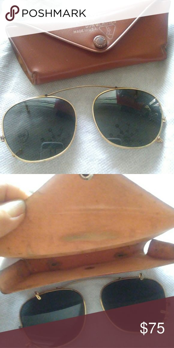 f05e81d407 Vintage Adjustable Ray-Ban Sunglasses Vintage adjustable Ray-Ban sunglasses.  Ray-Ban sunglasses are made in the USA. Bridge is two i…