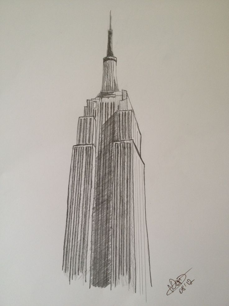 Empire State Building Silhouette