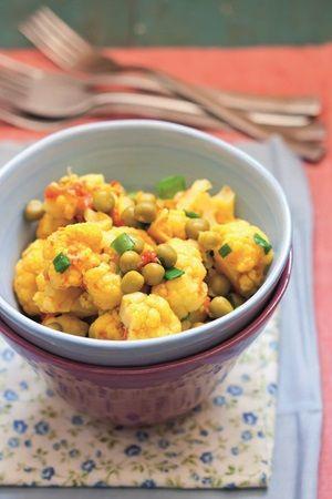 Cavolfiore Curry Piselli