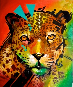 COLOMBIA ART WORK LEOPARD