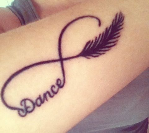 Dance tattoo; a definite yes. im getting this, but in white of course.