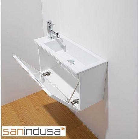 Meuble lave-mains blanc 'ALICANTE' SANINDUSA                                                                                                                                                                                 Plus