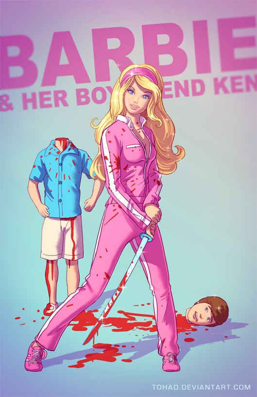 Barbie | 11 Terrifyingly Violent Illustrations Of Classic Childhood Characters