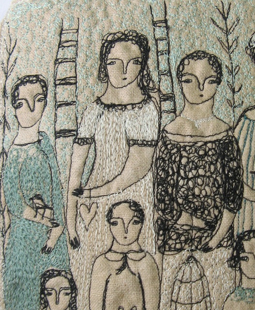 beautiful #embroidery by Cathy Cullis