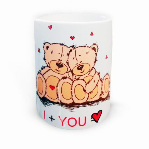 #Taza #Personalizada regalo original para diseñar con texto y foto i love you osos