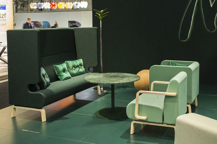 Point easy chair & sofa, design: Fredrik Mattson | Centrum table, design: Sandin & Bülow | Cactus coat stand, design: Jesper Ståhl
