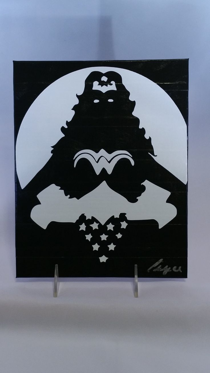 Duct Tape Art Piece of Wonder Woman Silhouette. This unique piece of art is HAND CUT out of Duct Tape! It is then covered with a sealant to protect from pealing, dust and moisture which gives it a painted look. It measures 8x10 inches and is ready to frame. My pieces are made to order, so if there is a specific color combo you'd like, please let me know!.