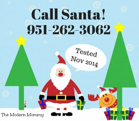 Call Santa's personal hotline!! Tested Nov 2014 by #themodernmommy
