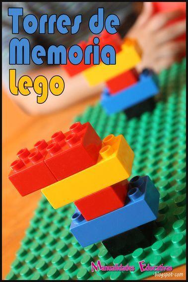 Actividades Educativas con Lego: Torres de Memoria - Creciendo con Montessori