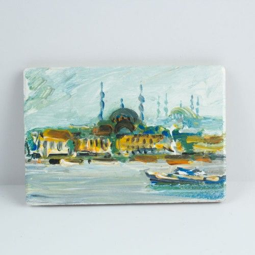 The Oil Painting Magnet Of istanbul - 14 $ / %100 Handmade by cosanon art