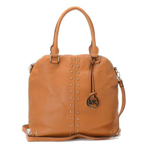 MICHAEL Michael Kors Uptown Astor Large Satchel Tan Leather