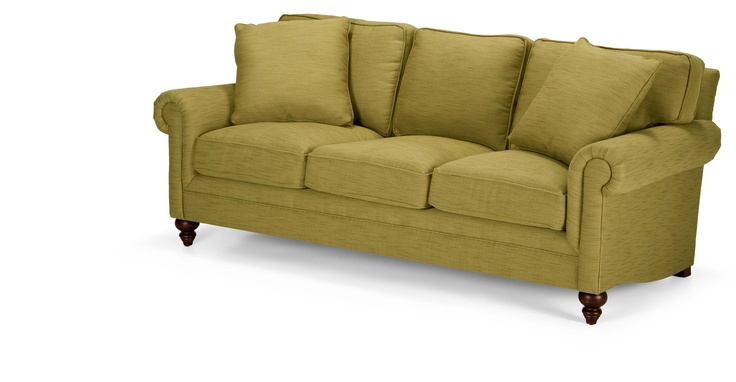 Hawkins 3 Seater Sofa in olive green | made.com  Maybe a colourful one so cat wee blends in