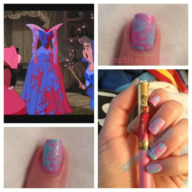 Sleeping Beauty Nails: 27 Best Disney Nails Images On Pinterest