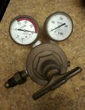 Vintage Victor Equipment Co. Welding  Gas Regulator / Original Brass Gauges SR41
