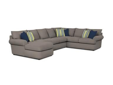 Shop For Klaussner Samantha Sectional 36840 Fab Sect And