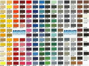 powder coat paint colors a metal bed can be painted any of these colors - Coloris Ral