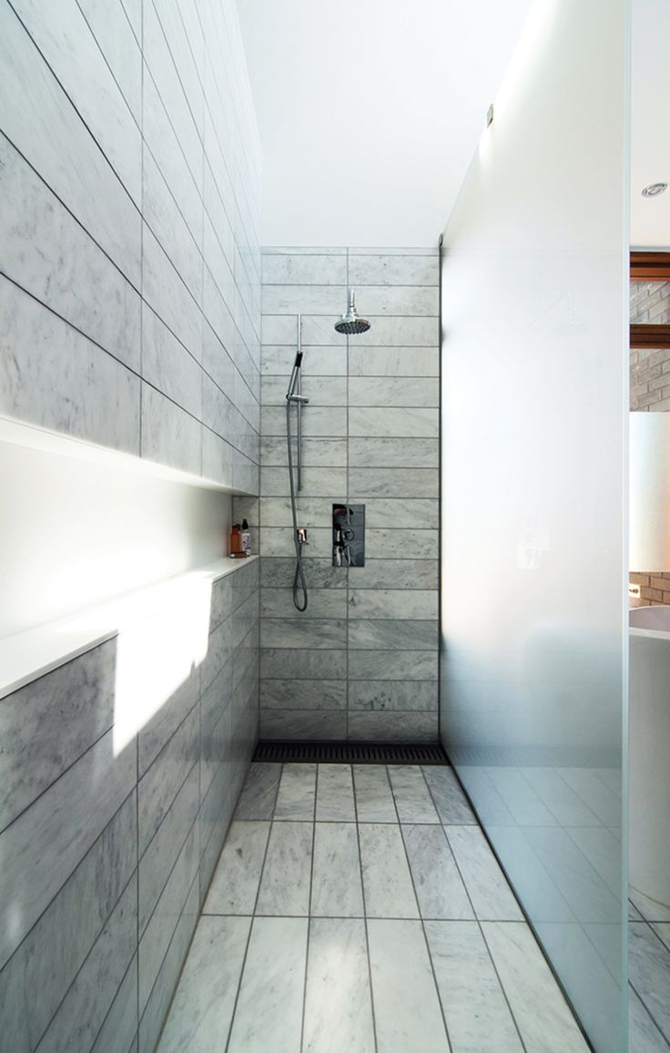A 1930s Tudor Home Brightens Up In Toronto. Modern ShowerModern BathroomMaster  ...