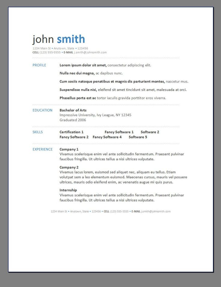 Modern Resume Posts Related To Resume Template Modern 1