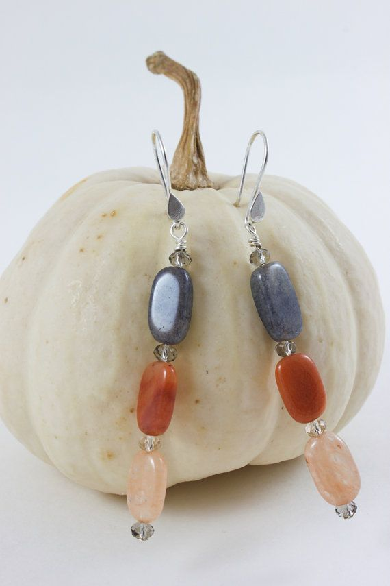 Moksha| Long earrings| Semi precious Stone earrings|