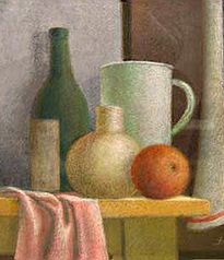 #Diego Voci - Done in the spirit of Morandi. Private Collection of Helga VOCI, widow of #Antonio DIEGO Voci. This Still Life is available for purchase now: http://www.diegovociproject.com/#!product/prd4/3224981851/title%3A-still-life