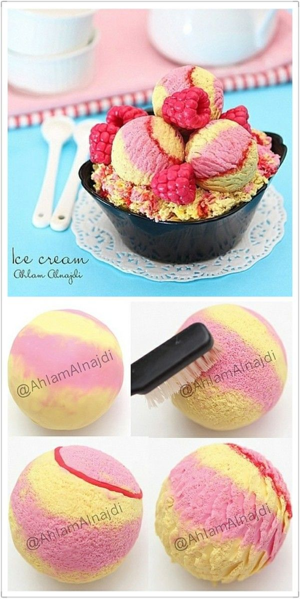 Polymer clay ice cream for that PERFECT ice cream bowl you throw.