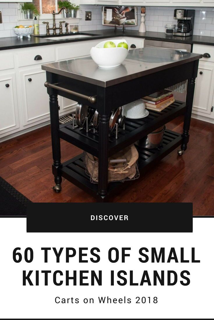 10 Types of Small Kitchen Islands & Carts on Wheels ...
