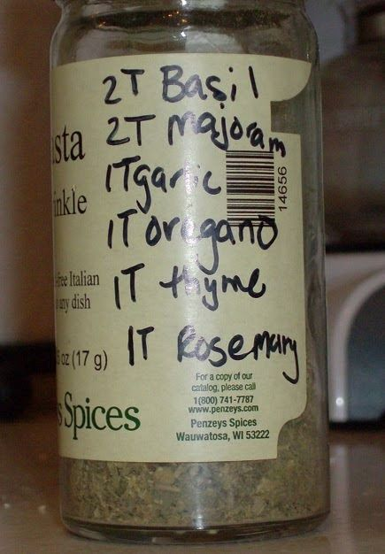 I got a free jar of pasta sprinkle  from Penzeys a while ago. It was the perfect thing to shake into red sauce, on bread sticks, toasted che...