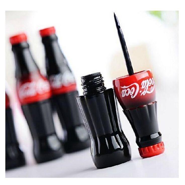 2016 Nowy Styl Wodoodporny Eyeliner Cieczy Typu Cola Marki Makijaż Oczu liniowej Długo Trwać Czarny Eyeliner Kosmetyki