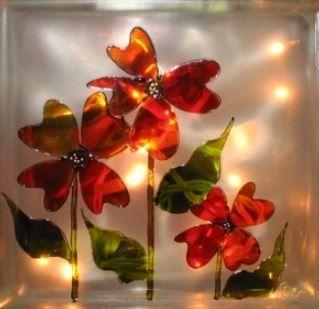 17 best images about arts crafts faux vitrail on for Faux vitrail sur miroir
