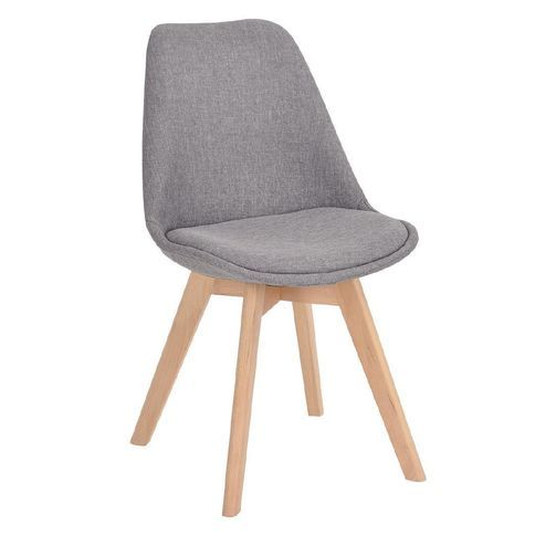 Living & Co Fabric Dining Chair Grey