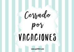 """Cartel """"Cerrado por vacaciones"""" - gratis"""