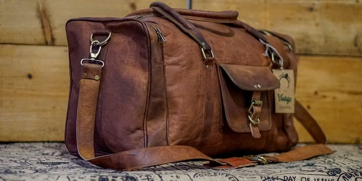 Vintage Handmade Leather Traveller Bag