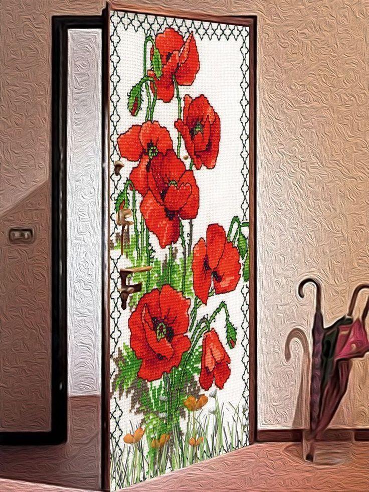 Door sticker – Embroidery