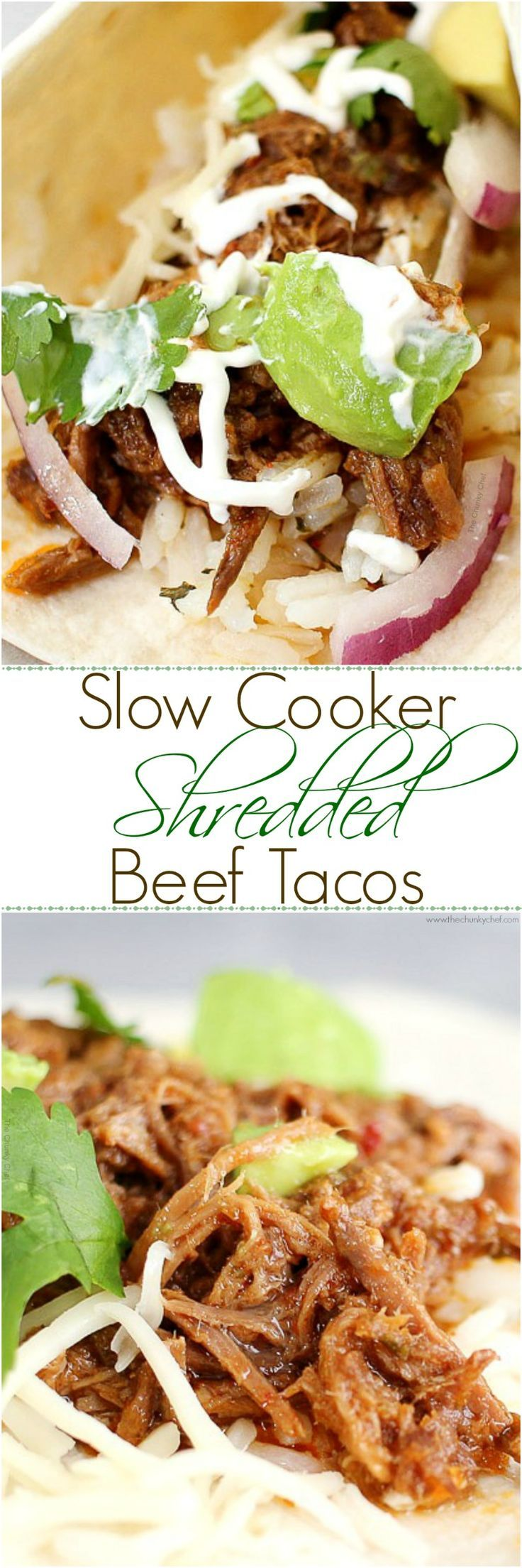 Perfect for Cinco de Mayo or any other occasion... these shredded beef tacos are amazing! The slow cooker makes these so tender and flavorful!