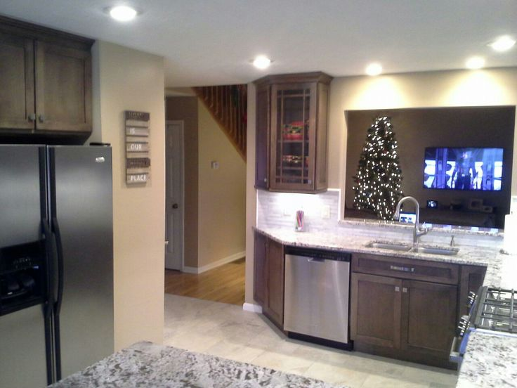 Family Room Entrance Enlarged And Wall Opened Up. Oak KitchensKitchen  RemodelingFamily Rooms1990sEntranceWallEntrywayDoor ...